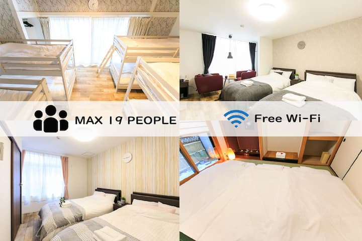 Max 19 ppl★A spacious and complete room♪