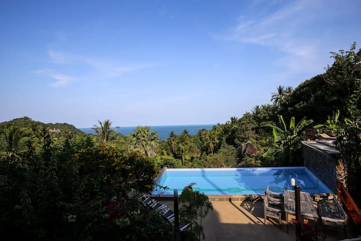 Two-Bedroom Villa with Mountain View. - Ko Pha-ngan - Apartamento
