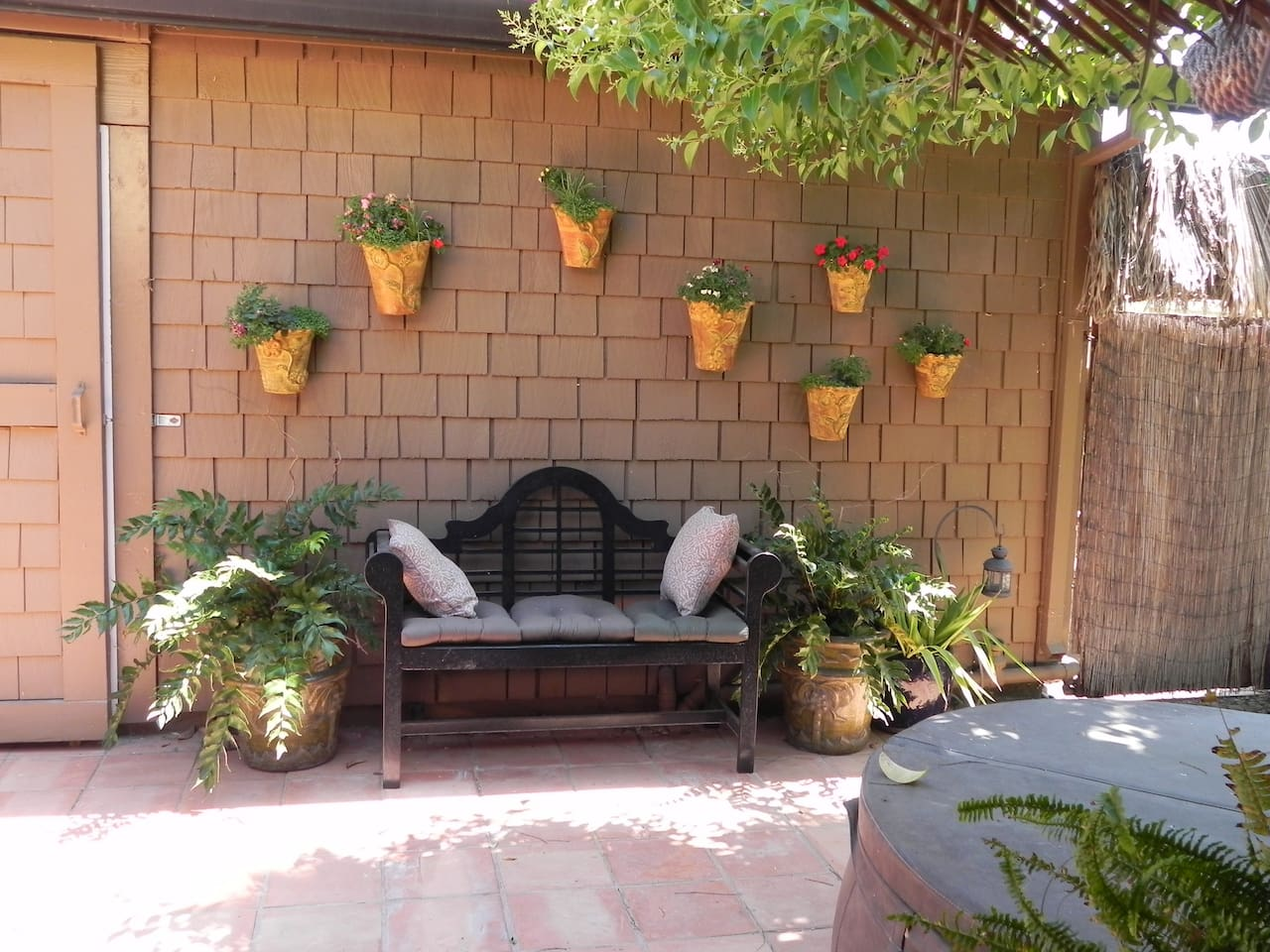 The entrance to the Hidaway's patio