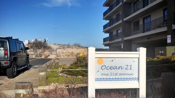 Ocean 21 Unit 2E Ocean Front Condo Building, SSPK.