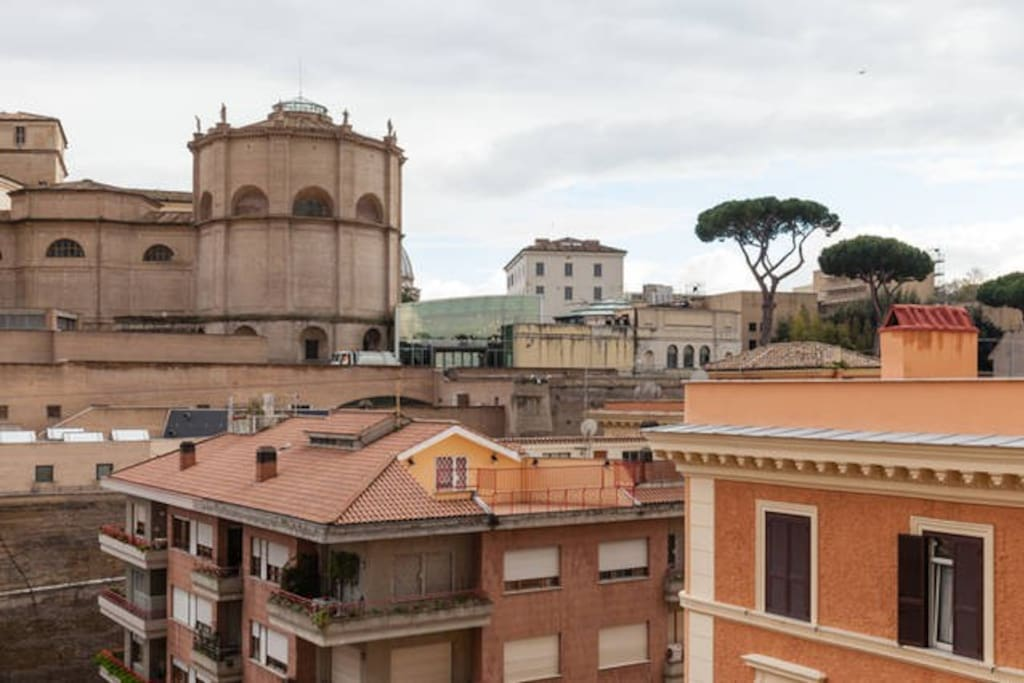 VATICAN MUSEUM FROM TERRACE OF THE BUILDING. TERRACE NOT ACCESSIBLE