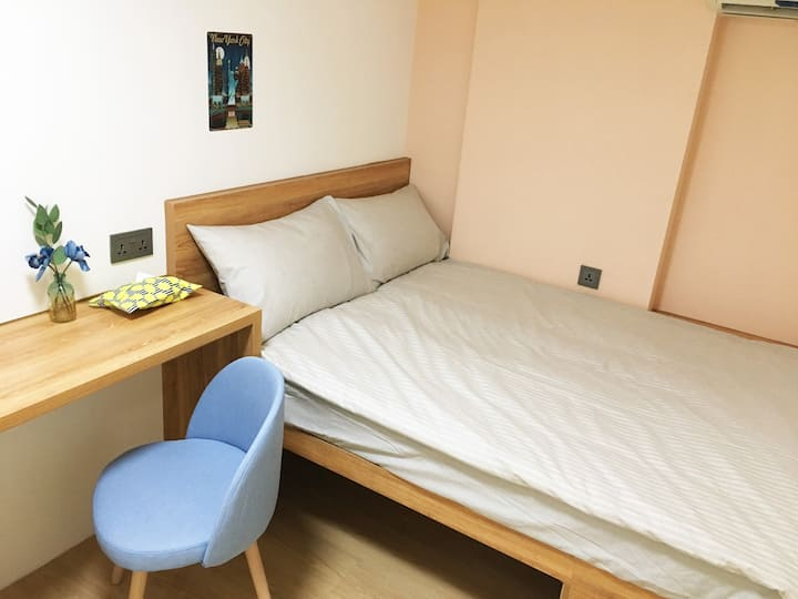 Chic Private Bedroom, 5 Mins Only to Jordan MTR