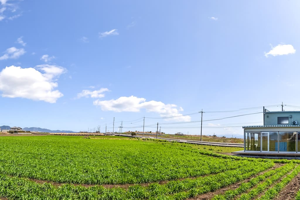Independent house in Daikon Island farm. 360 degree sky view also give you amazing starry night!