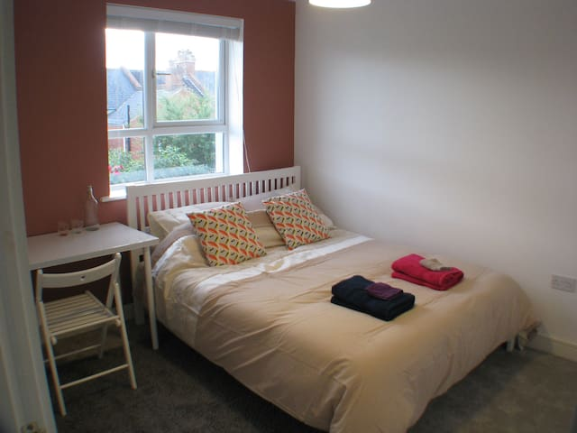 Modern room with private bathroom and kingsize bed - Exeter