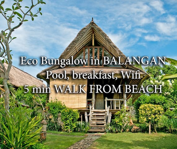 BUNGALOW OASIS, 5min beach, wifi, pool, bfst 1B - South Kuta - Departamento
