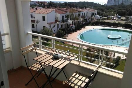 Cala'n Blanes with sea and pool views