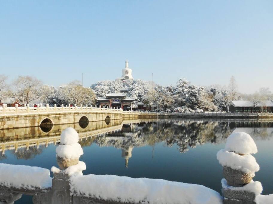 什刹海雪景