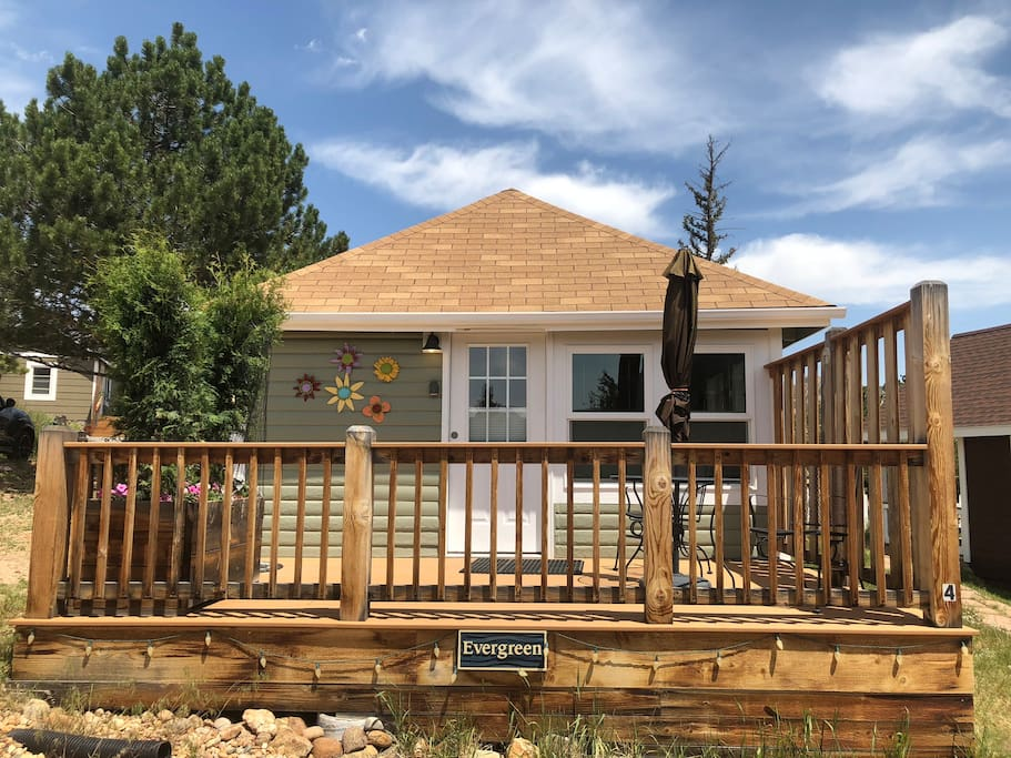 Evergreen cottage houten huisje te huur in estes park for Evergreen cottage