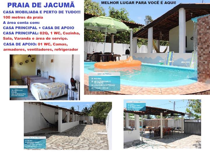 Casa na Praia de Jacumã a menos de 100m da praia