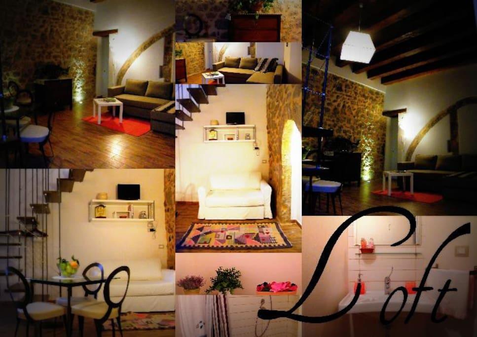 collage foto appartamento loft
