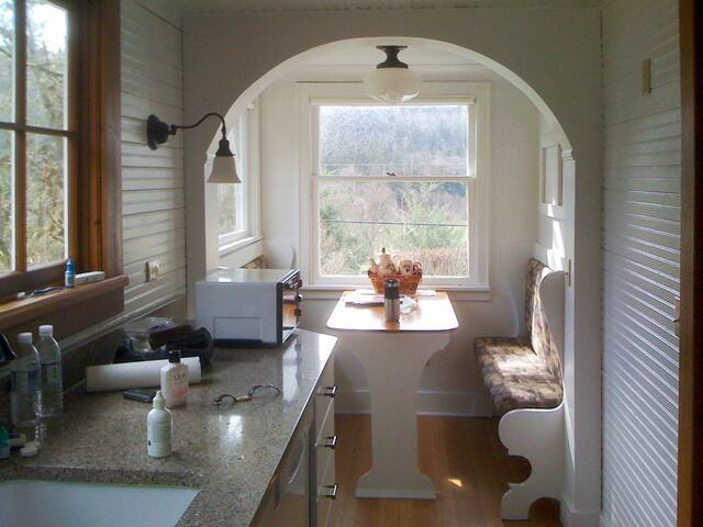 In the kitchen, looking toward the breakfast nook.