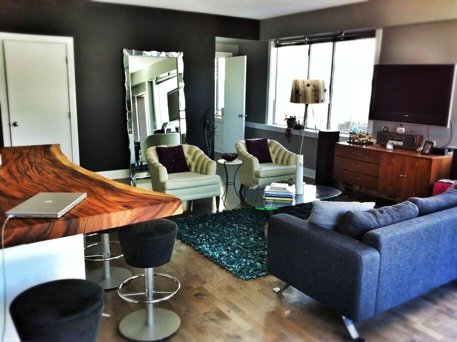 Living room with open floor plan.