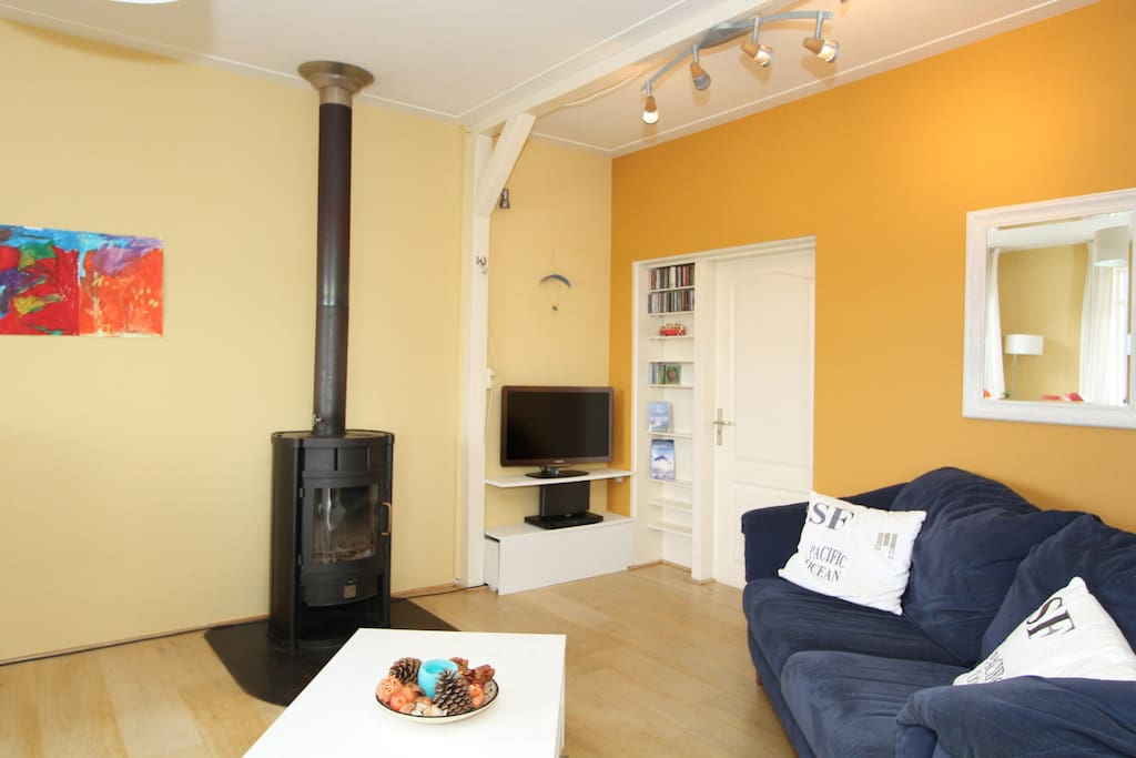 comfortable sitting together near the fire place or candle lights