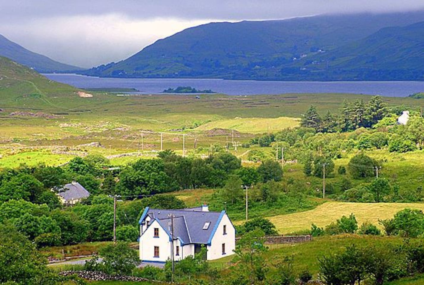 House with Lough na Fooey in background.