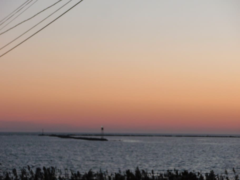 Enjoy ocean view from deck with distant view of block island