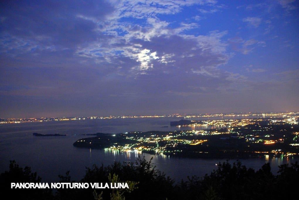 panorama notturno villa luna