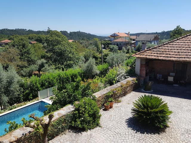 View from the balcony at Casa do Limao