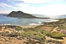 le sentier du littoral à l'Escalet
