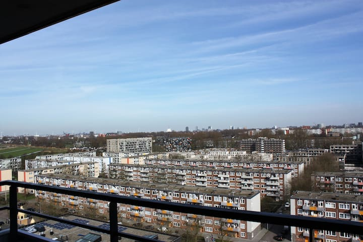 Great city view, lovely food, shops & free parking - Amsterdam - Wohnung