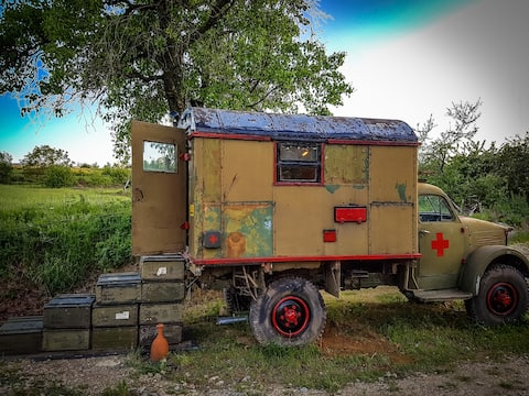 Glamping Military Truck