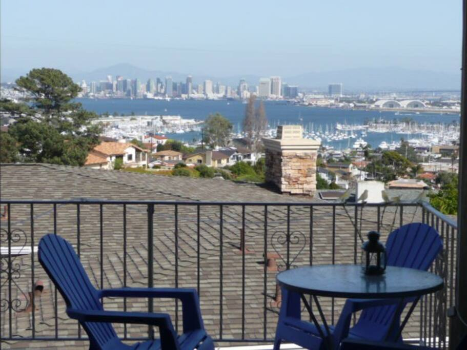 Your balcony view of San Diego to enjoy while staying in our 3 bedroom home