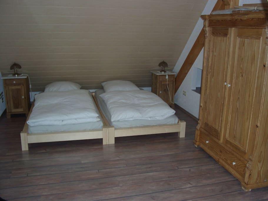 Doppelbett FeWo 1