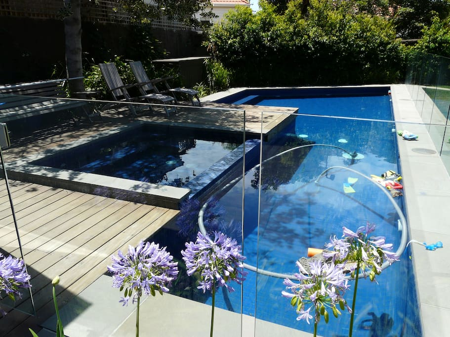 pool and heated spa fully enclosed