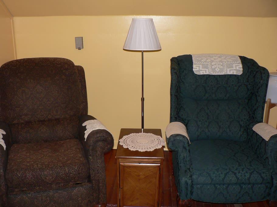 Comfy recliners.