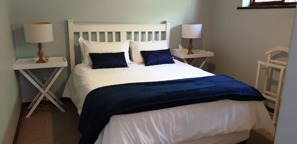 Comfortable Queen Size Bed and nice big bedroom.