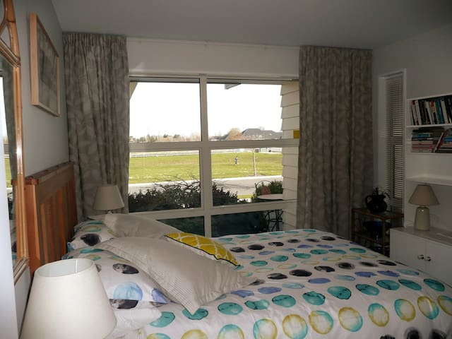 Bedroom with a view of the reserve