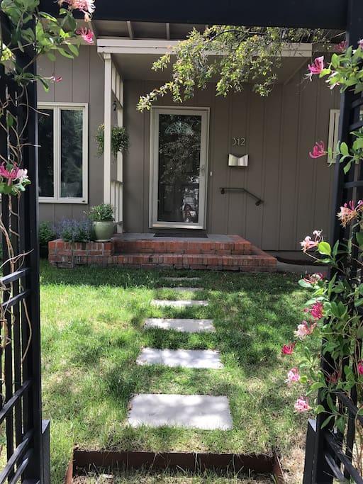 Front door walkway.