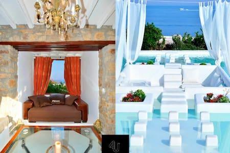 Villa Nefeli sleeps up to 18 people, all amenities - Ornos