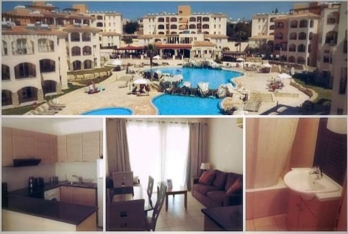 Nestoras Apartment Paphos + pool + gym+ free AC!