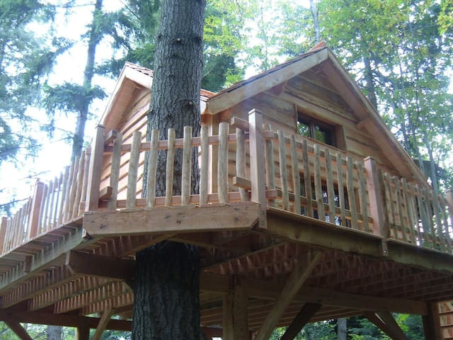 Cabin-Economy-Shared Bathroom-Terrace-Cabane OURS Insolite