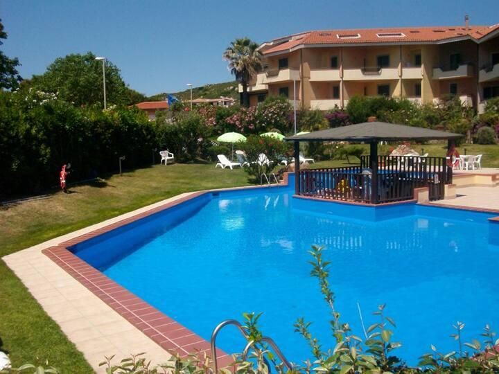Splendido trilocale residence con piscina: 1°piano