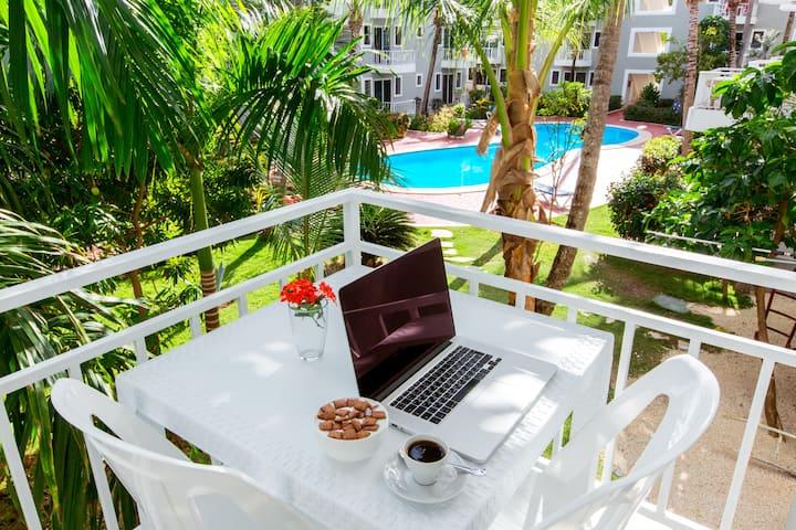 DELUXE STUDIO 3 people WiFI Pool Beach Club
