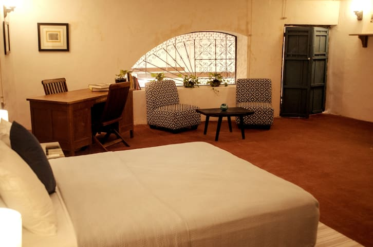 Master bedroom, queen size bed, 30m2 plus bathroom.  We take great care to make it very comfortable.