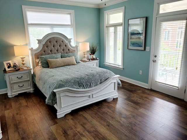 Master Bedroom with balcony to right