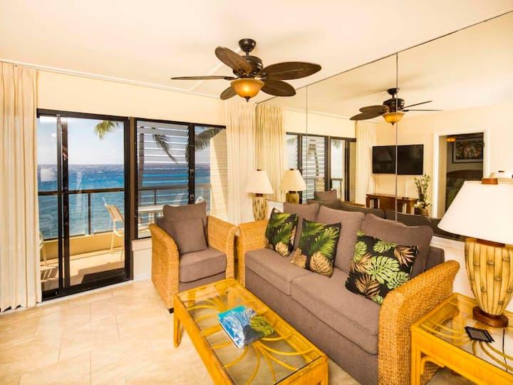 Great View+Upgrades! Island Decor, Open Kitchen, WiFi, Lanai, Laundry–Poipu Shores 302A