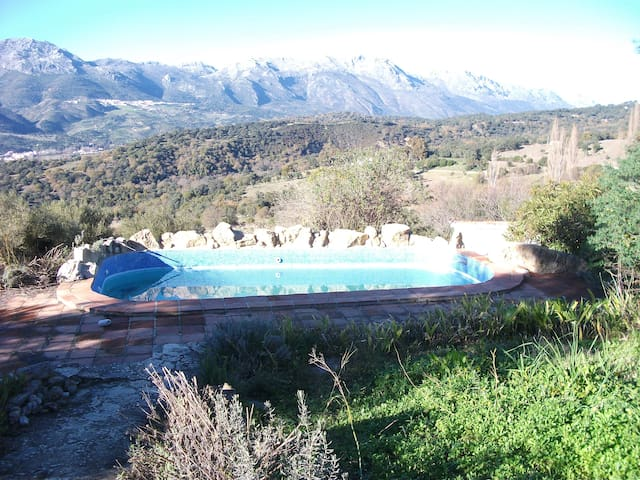 House with pool and mountain views - Algatocín - Casa