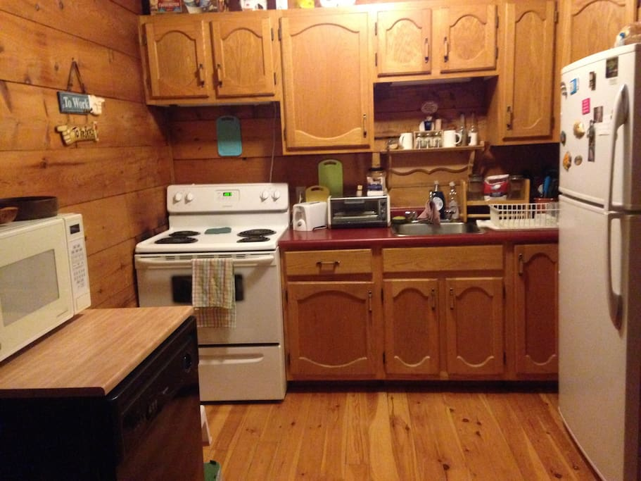Compact kitchen but fully equipped