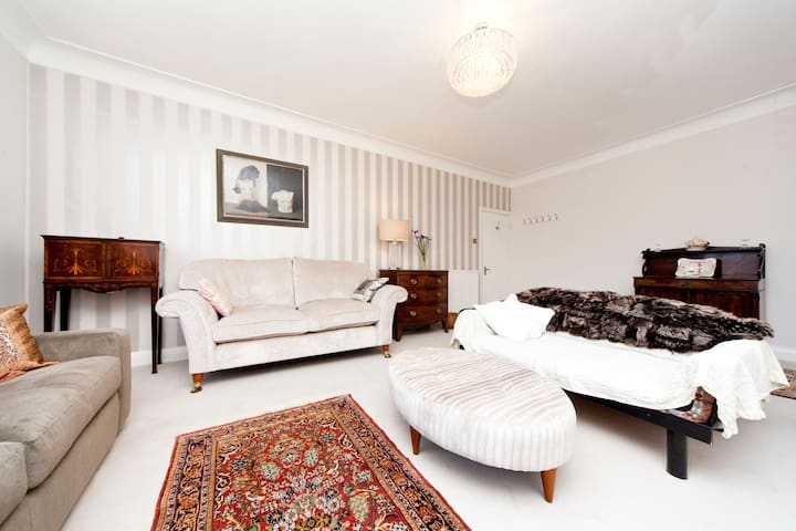 living room with sofa beds