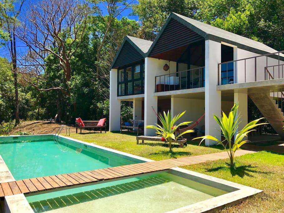 Jungle Hub Bungalow And Pool Bungalows For Rent In Montezuma Puntarenas Costa Rica