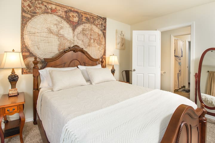 Bedroom #1: Hopefully you'll sleep like a baby on this incredibly comfortable memory foam mattress.