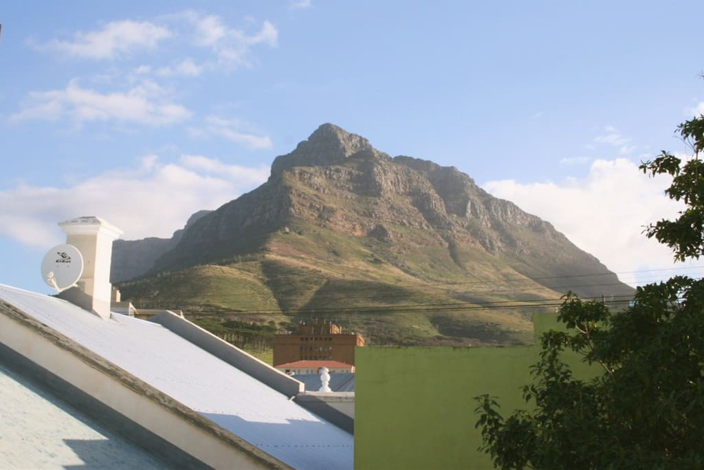 Our view of Cape Town's iconic Table Mountain. That's Devil's Peak.