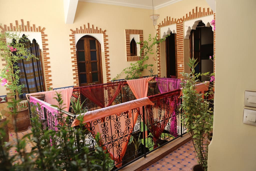 1st floor open courtyard, with three en-suite rooms adjoining