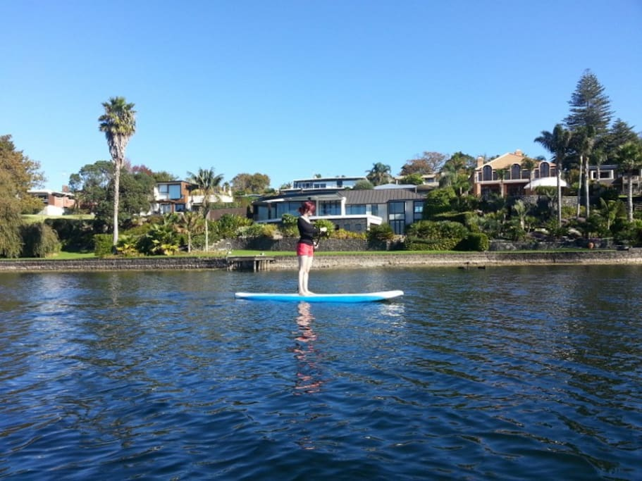 Paddle boarding from the garden is awesome