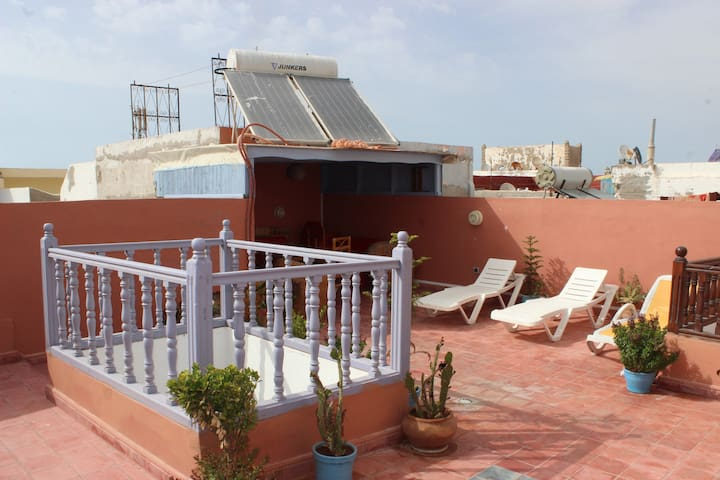 Double room on the rooftop with breakfast