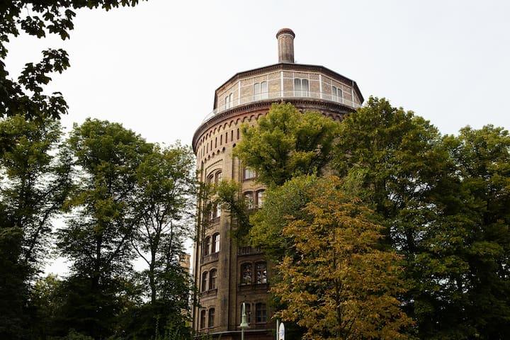 Famous WATERTOWER in Berlin