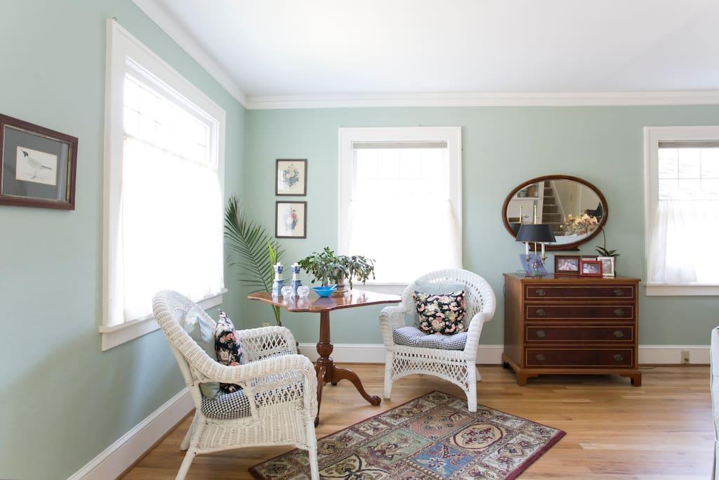 Sunny corner for tea and talk